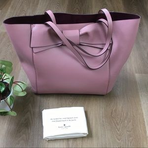 KATE SPADE Olive Drive Savannah Pink Leather Tote